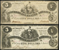 Confederate Notes:1861 Issues, T36 $5 1861 PF-1; PF-2 Cr. 272; Cr, 274 Very Fine.. ... (Total: 2 notes)