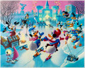 Memorabilia:Disney, Carl Barks Mardi Gras Before the Thaw Signed Limited Edition Lithograph Print #221/350 (Another Rainbow, 1992). ... (Total: 2 Items)