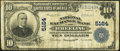 National Bank Notes:West Virginia, Wheeling, WV - $10 1902 Plain Back Fr. 632 The National Exchange Bank Ch. # 5164 Very Good-Fine.. ...
