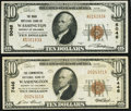Washington, DC - $10 1929 Ty. 1 The Riggs National Bank Ch. # 5046 Very Fine; $10 1929 Ty. 1