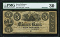 Obsoletes By State:Iowa, Dubuque, IA- Miners Bank $5 18__ Remainder PMG Very Fine 30.. ...