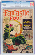 Silver Age (1956-1969):Superhero, Fantastic Four #1 (Marvel, 1961) CGC GD/VG 3.0 Cream to off-white pages....