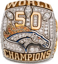 Football Collectibles:Others, 2015 Denver Broncos Super Bowl 50 Championship Ring....