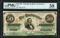 Confederate Notes:1863 Issues, T57 $50 1863 PF-12 Cr. 415 PMG Choice About Uncirculated 58.. ...