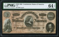 Confederate Notes:1864 Issues, T65 $100 1864 PF-3 Cr. 494 PMG Choice Uncirculated 64 EPQ.. ...