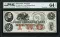 Obsoletes By State:Wisconsin, Waupun, WI- Corn Exchange Bank $2 18__ Remainder PMG Choice Uncirculated 64 EPQ.. ...