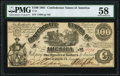 Confederate Notes:1861 Issues, T13 $100 1861 PF-4 Cr. 56 PMG Choice About Uncirculated 58.. ...