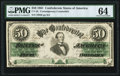 Confederate Notes:1861 Issues, CT16/86F Counterfeit $50 1861 PMG Choice Uncirculated 64.. ...