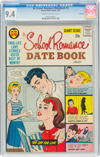 Hi-School Romance Datebook #2 File Copy (Harvey, 1963) CGC NM 9.4 Cream to off-white pages