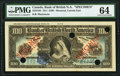 World Currency, Canada Montreal, PQ- Bank of British North America $100 3.7.1911 Ch.# 55-24-16S Color Trial Specimen PMG Choice Uncirculat...