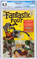 Silver Age (1956-1969):Superhero, Fantastic Four #2 (Marvel, 1962) CGC VG+ 4.5 Off-white to white pages....