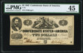 Confederate Notes:1862 Issues, T42 $2 1862 PF-2 Cr. 335 PMG Choice Extremely Fine 45.. ...