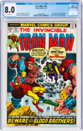 Bronze Age (1970-1979):Superhero, Iron Man #55 (Marvel, 1973) CGC VF 8.0 White pages....