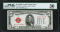 Small Size:Legal Tender Notes, Fr. 1529* $5 1928D Legal Tender Star Note. PMG Very Fine 30.. ...