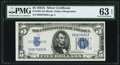Small Size:Silver Certificates, Fr. 1651 $5 1934A Silver Certificate. PMG Choice Uncirculated 63 EPQ.. ...