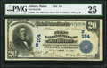 National Bank Notes:Maine, Auburn, ME - $20 1902 Date Back Fr. 642 The First National Bank Ch. # (N)154 PMG Very Fine 25.. ...