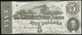 Confederate Notes:1863 Issues, T60 $5 1863 PF-19 Cr. 457 Choice About Uncirculated.. ...