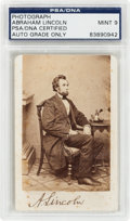 Photography:CDVs, Abraham Lincoln: A Wonderful Signed Carte de Visite Photo, Thrice Authenticated! . ...