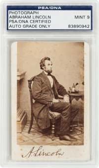Abraham Lincoln: A Wonderful Signed Carte de Visite Photo, Thrice Authenticated!