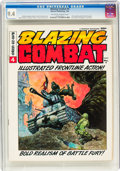 Magazines:Miscellaneous, Blazing Combat #4 (Warren, 1966) CGC NM 9.4 Off-white to white pages....