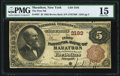 Marathon, NY - $5 1882 Brown Back Fr. 467 The First National Bank Ch. # 3193 PMG Choice Fine 15