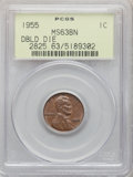 Lincoln Cents, 1955 1C Doubled Die Obverse, FS-101, MS63 Brown PCGS....