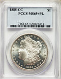 1885-CC $1 MS65+ Prooflike PCGS. PCGS Population: (165/56 and 8/6+). NGC Census: (84/36 and 1/2+). CDN: $1,300 Whsle. Bi...