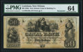 Obsoletes By State:Louisiana, New Orleans, LA- New Orleans Canal & Banking Compy. $50 18__ Remainder PMG Choice Uncirculated 64.. ...