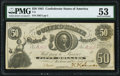 T8 $50 1861 PF-8 Cr. 20 PMG About Uncirculated 53