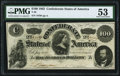 Confederate Notes:1862 Issues, T49 $100 1862 PF-2 Cr. 348 PMG About Uncirculated 53.. ...