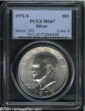 Eisenhower Dollars: , 1972-S S$1 Silver MS67 PCGS. ...