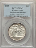 1935 50C Connecticut MS67 PCGS. Ex: The Poteat Collection. PCGS Population: (112/1). NGC Census: (82/1). CDN: $1,300 Whs...