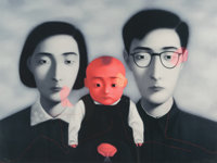 Zhang Xiaogang (b. 1958) Untitled, from Bloodline: The Big Family, 2006 Lithograph in col