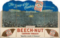 """Boxing Collectibles:Memorabilia, 1927 Jack Dempsey vs. Gene Tunney Beech-Nut Diecut Advertising Display Triptych Picturing """"The Long Count Fight.""""..."""