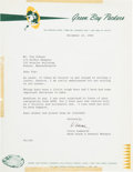Football Collectibles:Others, 1965 Vince Lombardi Signed Letter to Look Magazine Sports Editor Tim Cohane....