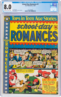 School Day Romances #2 (Star Publications, 1950) CGC VF 8.0 Off-white to white pages
