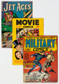 Golden Age (1938-1955):Miscellaneous, Golden Age Comics Group of 3 (Various Publishers, 1942-52)....