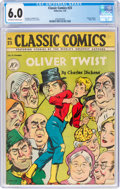 Golden Age (1938-1955):Classics Illustrated, Classic Comics #23 First Edition (Gilberton, 1945) CGC FN 6.0 Off-white to white pages....