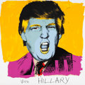 Fine Art - Work on Paper:Print, Deborah Kass (b. 1952). Vote Hilary, 2016. Screenprint in colors on Stonehenge paper. 42 x 42 inches (106.7 x 106.7 cm) ...