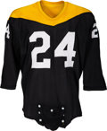 "Football Collectibles:Uniforms, 1967-68 Pittsburgh Steelers Game Worn ""Batman Style"" Jersey...."