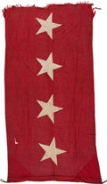 Military & Patriotic:Civil War, Ulysses S. Grant: 4-Star Flag Flown Over His Tomb.. ...