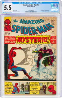 The Amazing Spider-Man #13 (Marvel, 1964) CGC FN- 5.5 Off-white to white pages