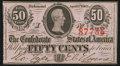 Confederate Notes:1863 Issues, T63 50 Cents 1863 PF-5 Cr. UNL Choice Crisp Uncirculated.. ...
