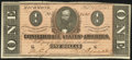 Confederate Notes:1864 Issues, T71 $1 1864 PF-7 Cr. UNL Choice About Uncirculated.. ...