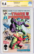Modern Age (1980-Present):Science Fiction, Transformers #10 (Marvel, 1985) CGC Signature Series NM 9.4 White pages....