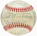 Autographs:Baseballs, 1985 Hall of Fame Induction Ceremony Multi-Signed Baseball from the Joe L. Brown Collection (24 Signatures)....