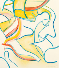 Willem de Kooning (1904-1997) Untitled, from Quatre Lithographies, 1986 Lithograph in colors on Arches paper 28-1