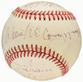 Autographs:Baseballs, Hall of Famers Multi-Signed Baseball (15 Signatures)....