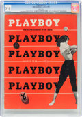 Magazines:Miscellaneous, Playboy #4 (HMH Publishing, 1954) CGC VF- 7.5 White pages....