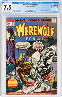 Werewolf by Night #32 (Marvel, 1975) CGC VF- 7.5 Cream to off-white pages